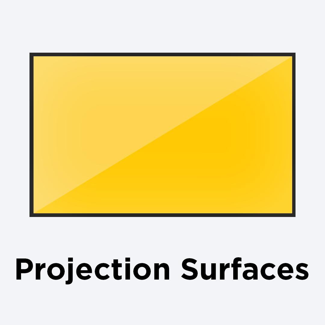 Class-leading projection surfaces to make productions of any size shine.